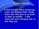 author s feelings