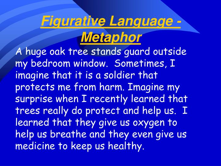 Figurative Language - Metaphor
