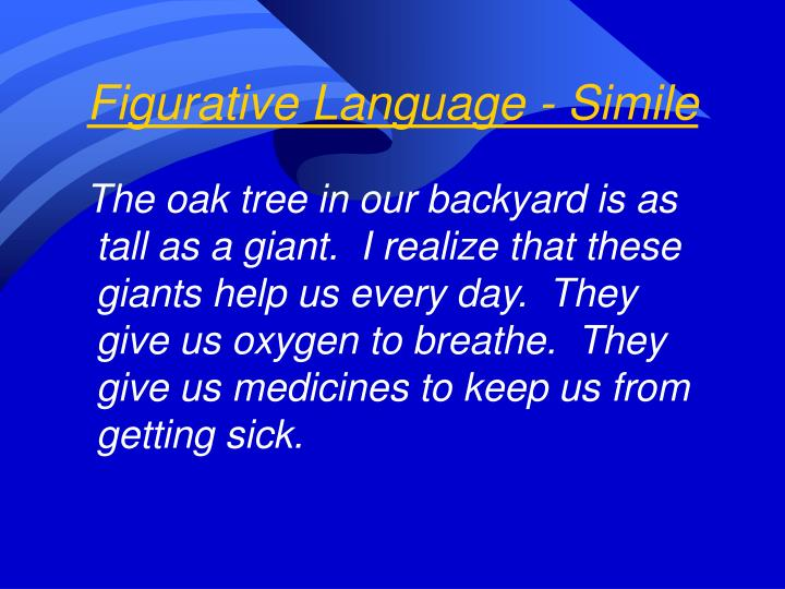 Figurative Language - Simile