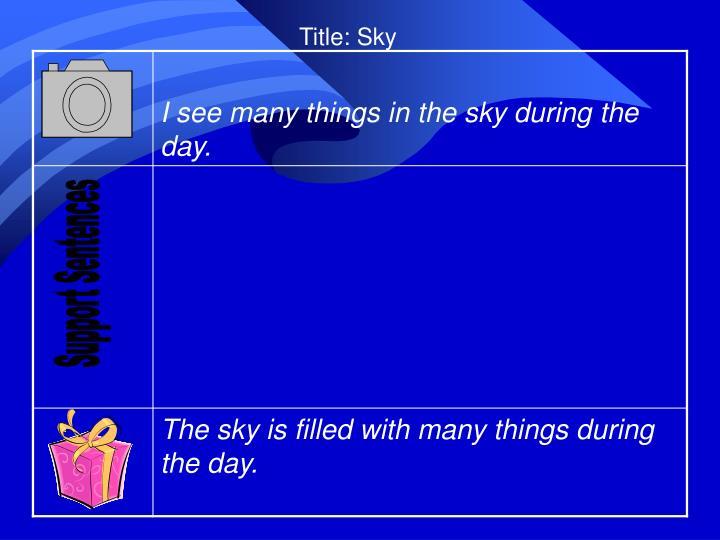 Title: Sky