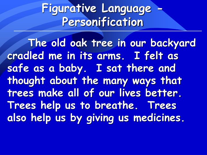 Figurative Language - Personification