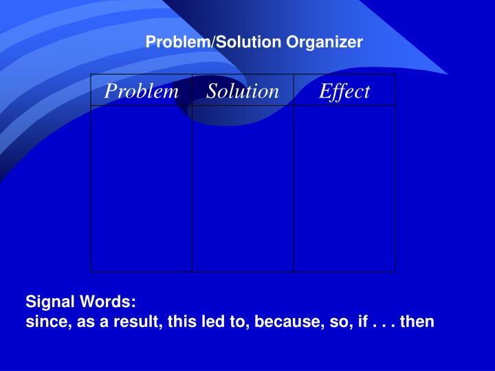 Problem/Solution Organizer