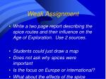 weak assignment