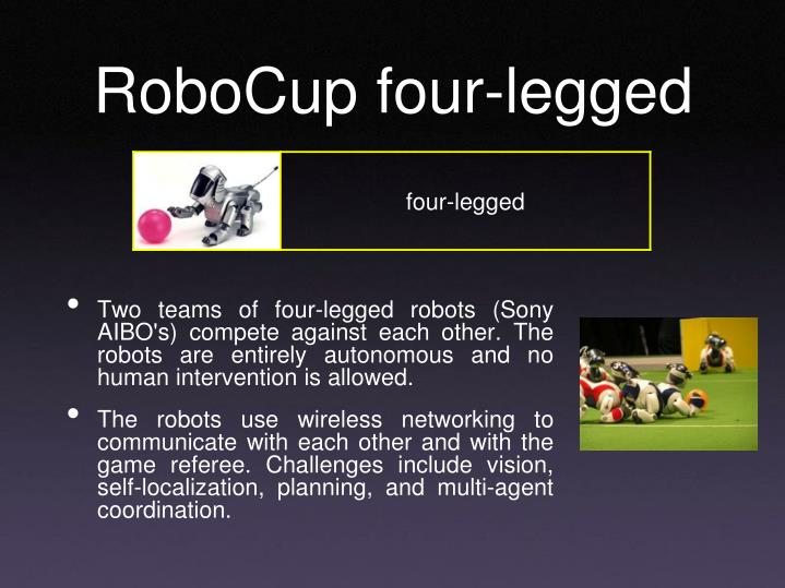 RoboCup four-legged
