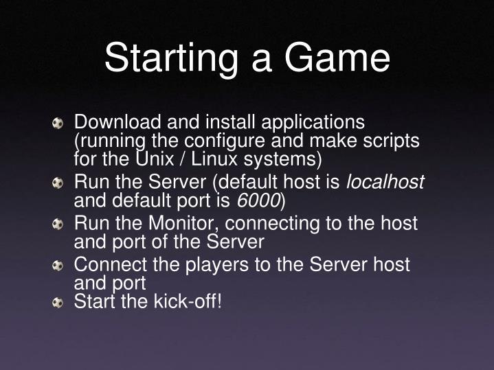 Starting a Game