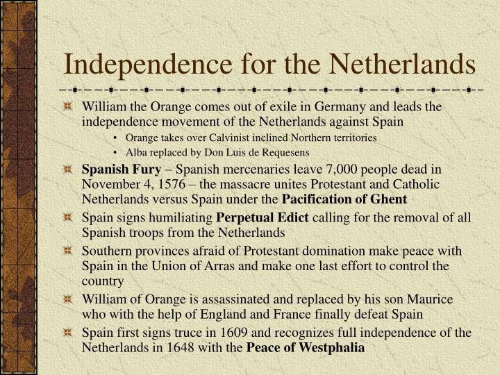 Independence for the Netherlands