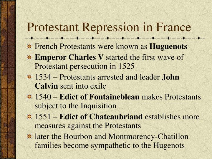 Protestant Repression in France