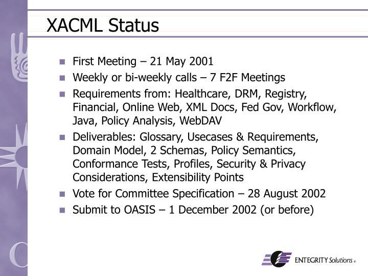 XACML Status