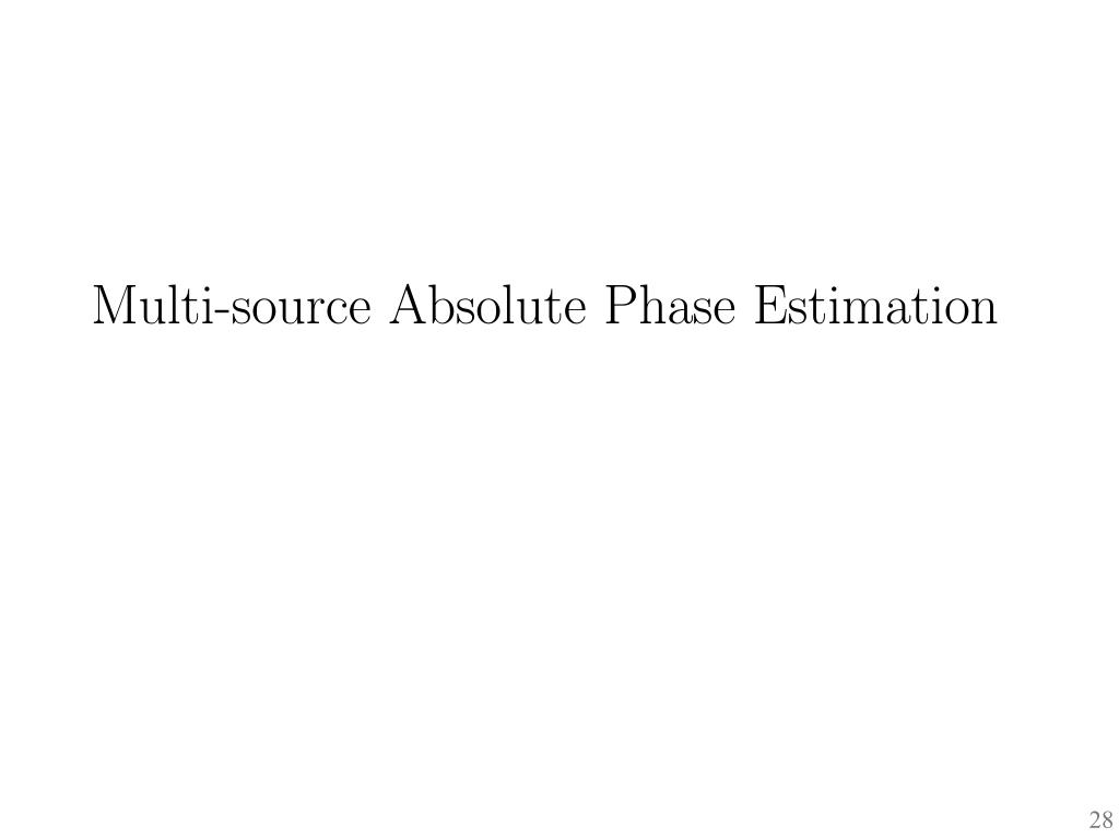 Multi-source Absolute Phase Estimation