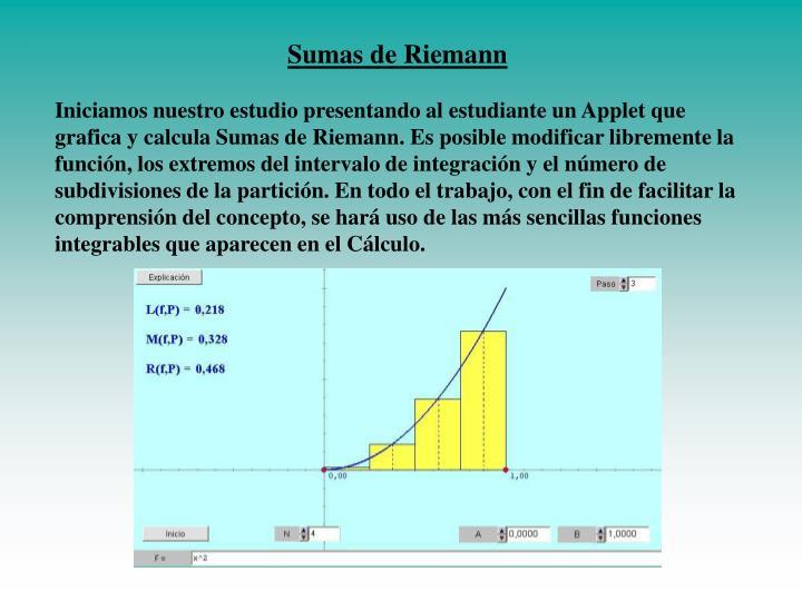 Sumas de Riemann