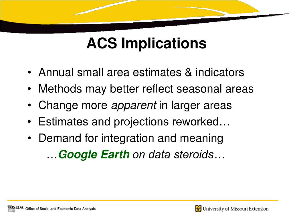 Annual small area estimates & indicators