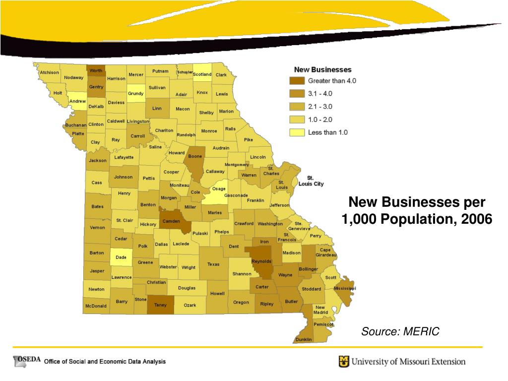 New Businesses per 1,000 Population, 2006