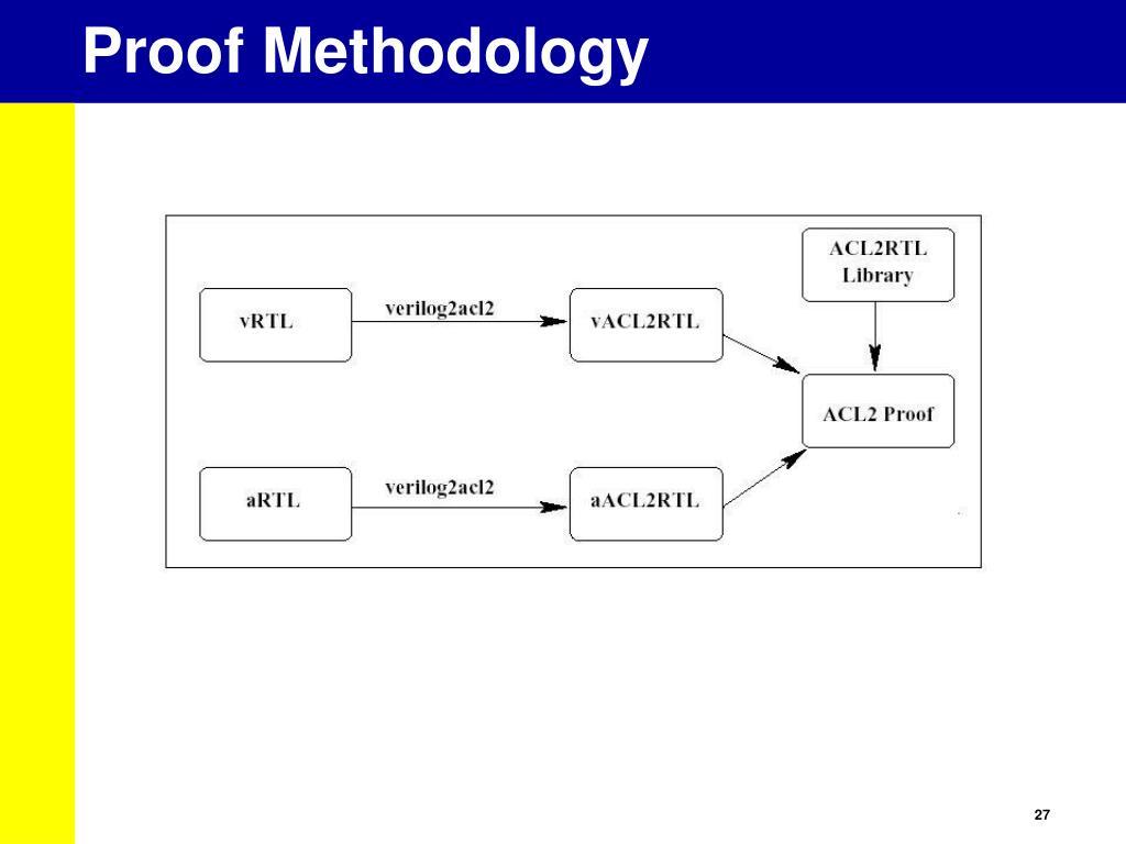 Proof Methodology