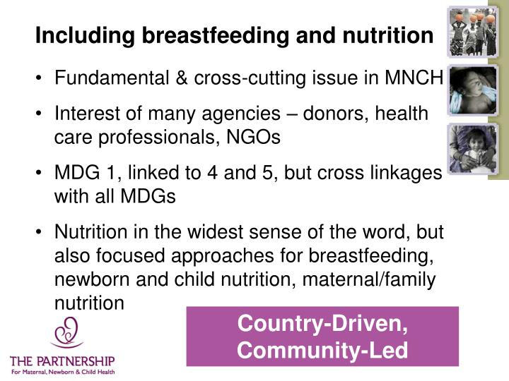 Including breastfeeding and nutrition