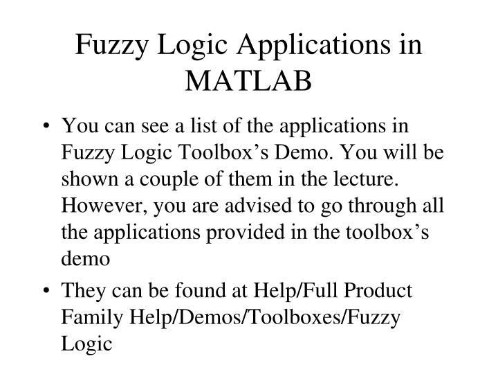 Fuzzy Logic Applications in MATLAB