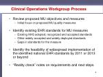clinical operations workgroup process
