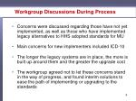 workgroup discussions during process