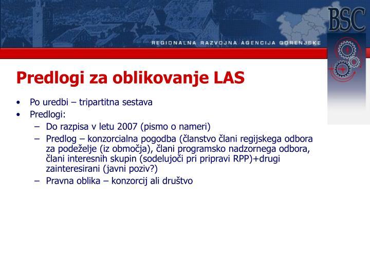 Predlogi za oblikovanje LAS