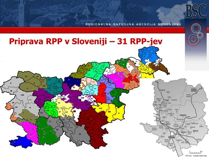 Priprava RPP v Sloveniji – 31 RPP-jev