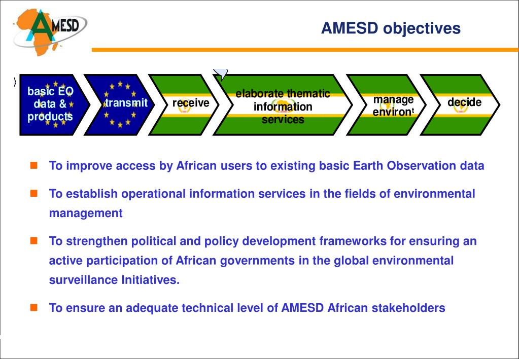 AMESD objectives