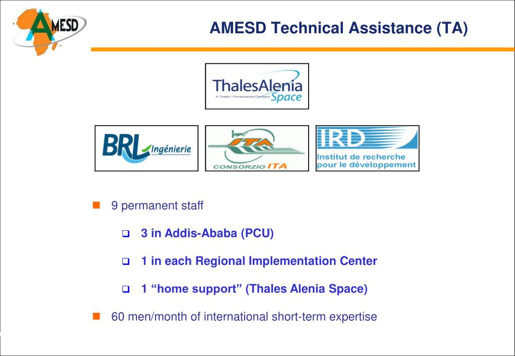 AMESD Technical Assistance (TA)