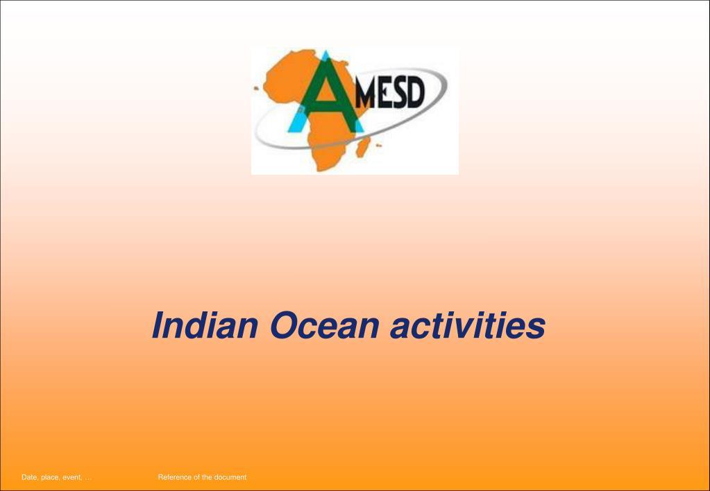 Indian Ocean activities