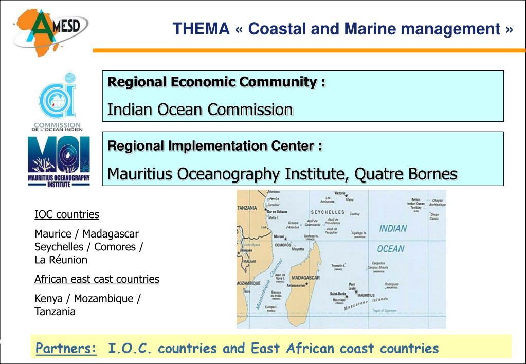 THEMA «Coastal and Marine management »