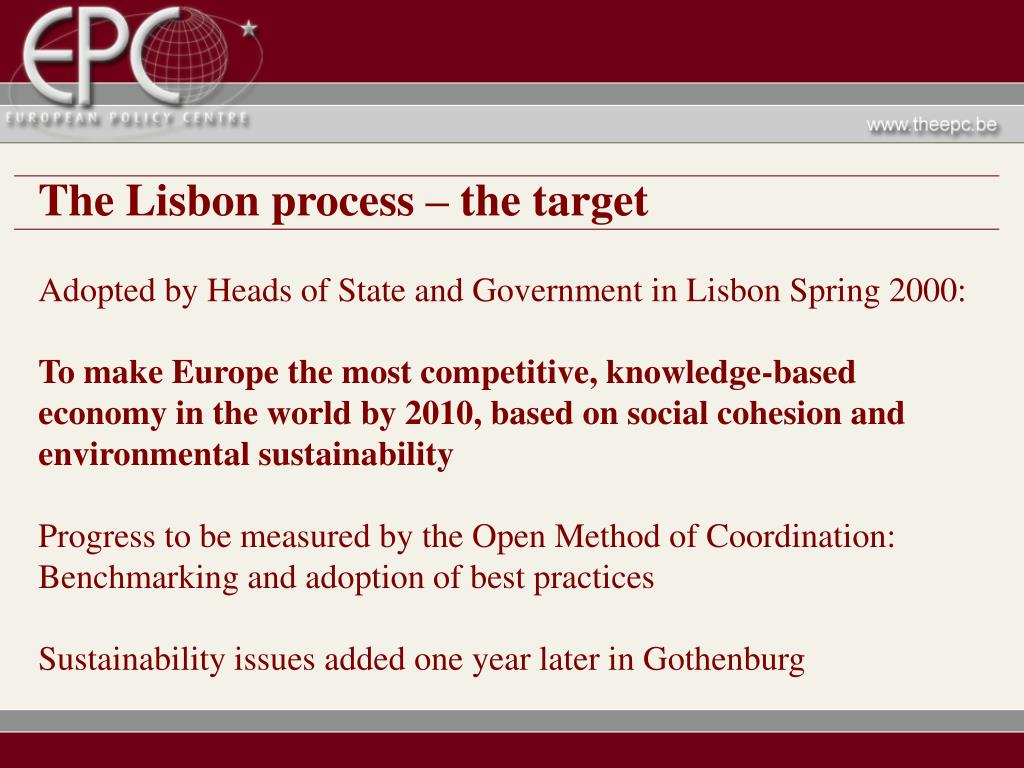 The Lisbon process – the target