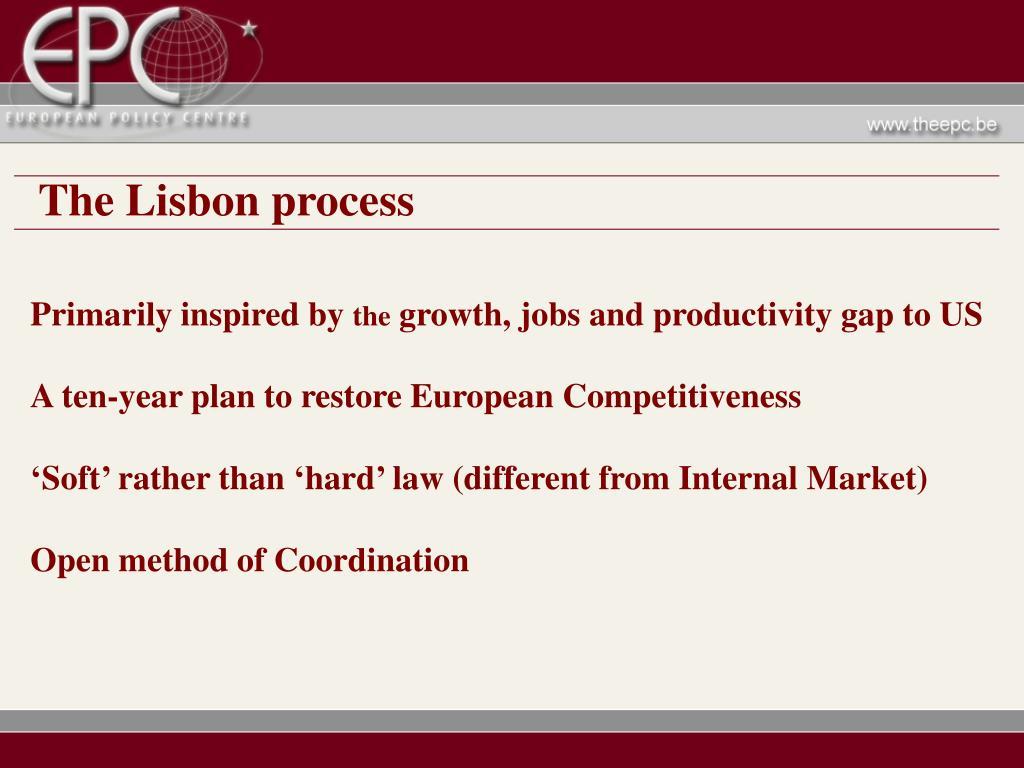 The Lisbon process