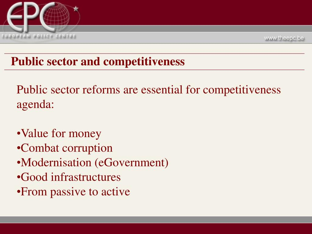 Public sector and competitiveness