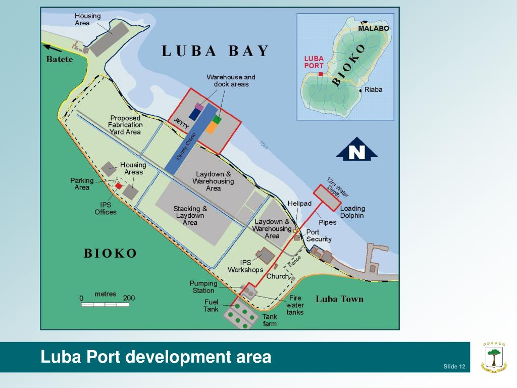 Luba Port development area
