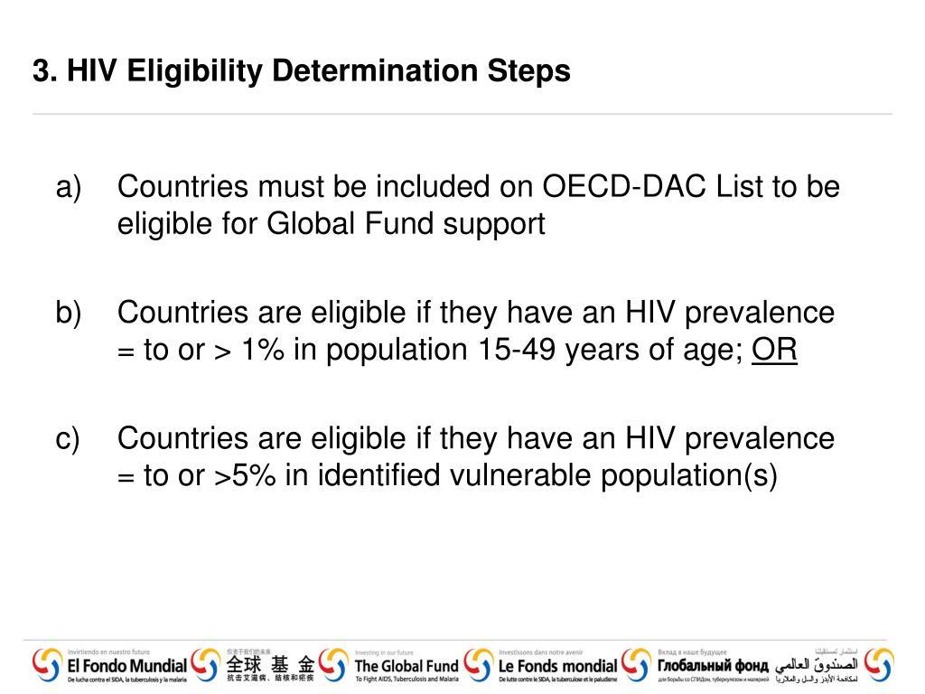3. HIV Eligibility Determination Steps