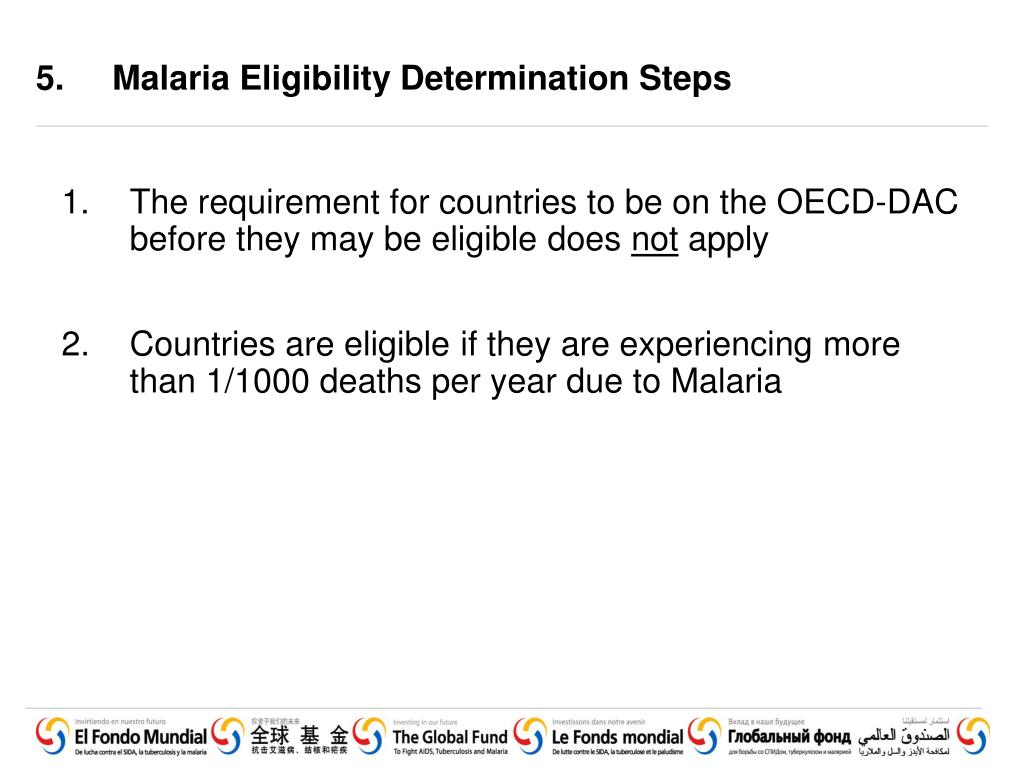 5. Malaria Eligibility Determination Steps
