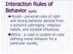 interaction rules of behavior con t