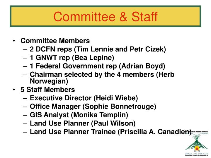 Committee & Staff
