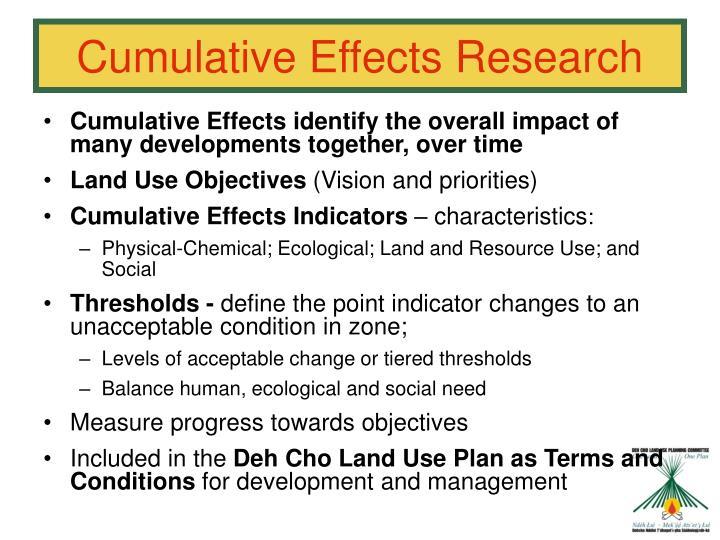 Cumulative Effects Research