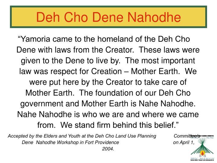 Deh Cho Dene Nahodhe