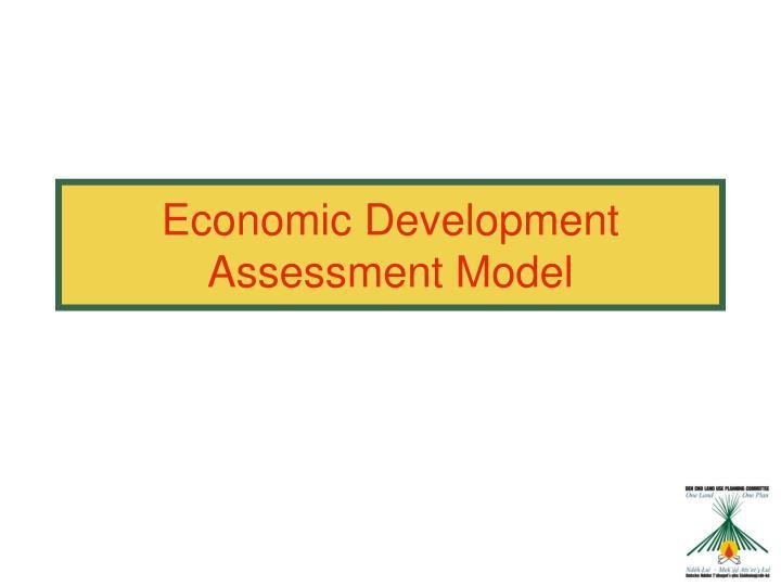 Economic Development Assessment Model