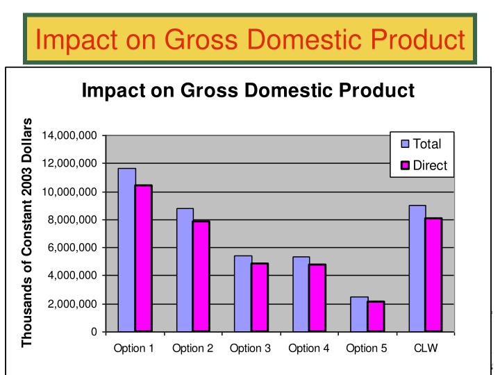 Impact on Gross Domestic Product