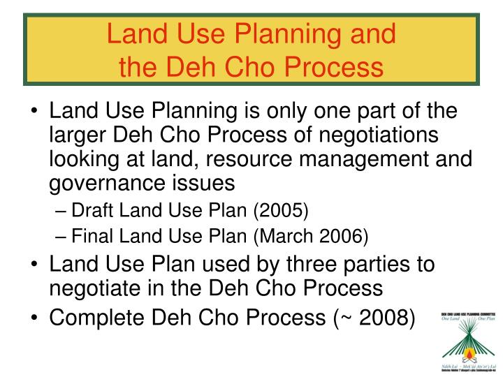 Land Use Planning and