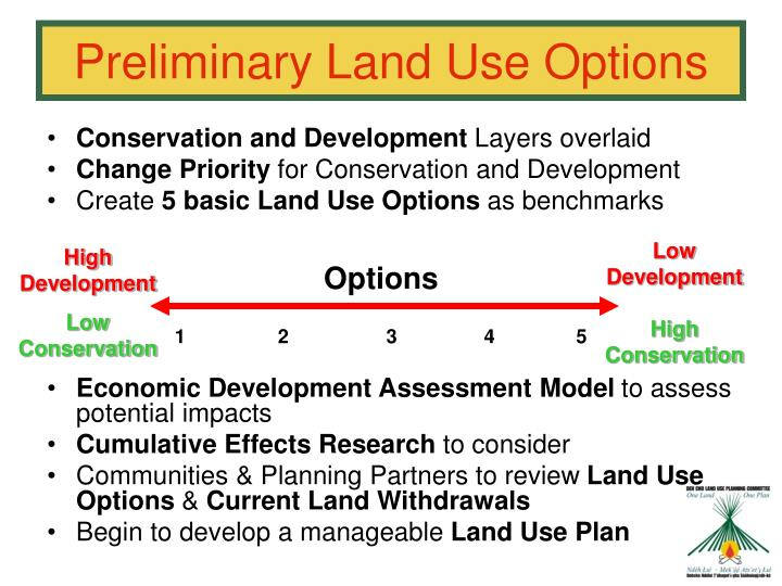 Preliminary Land Use Options