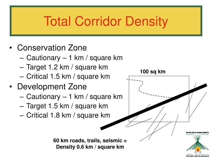 Total Corridor Density