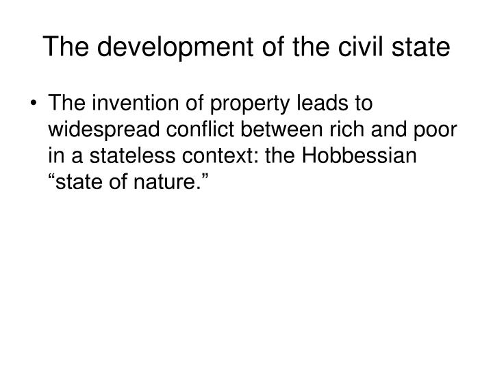The development of the civil state