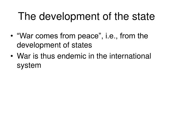 The development of the state