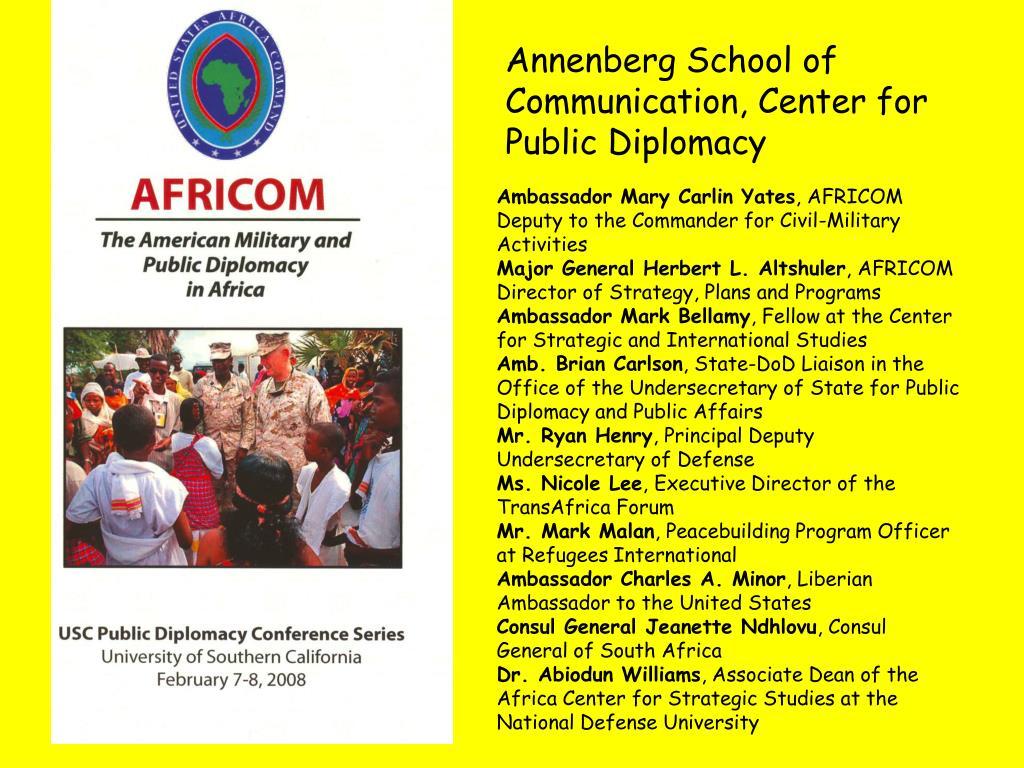 Annenberg School of Communication, Center for Public Diplomacy
