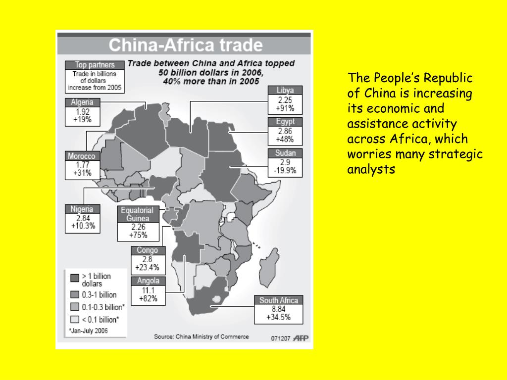 The People's Republic of China is increasing its economic and assistance activity across Africa, which worries many strategic analysts