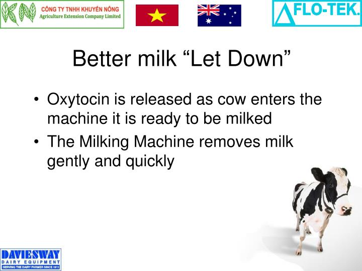 "Better milk ""Let Down"""