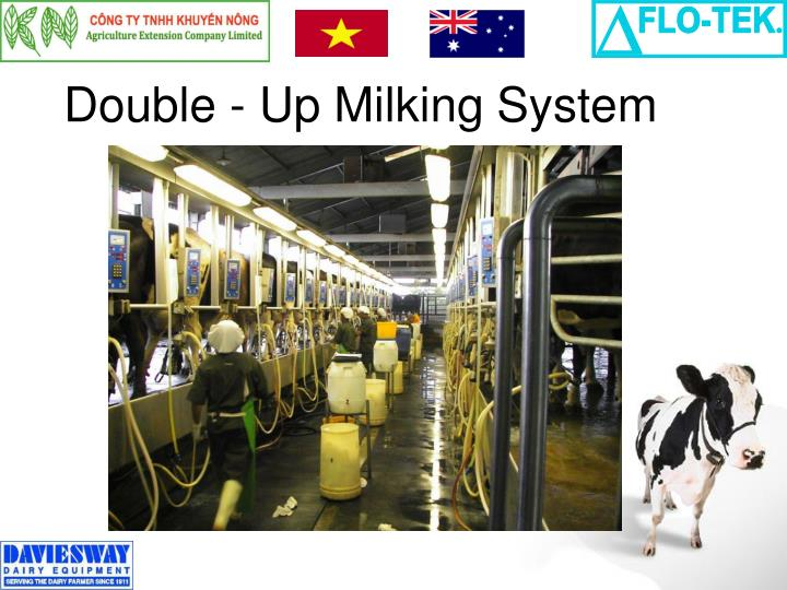 Double - Up Milking System