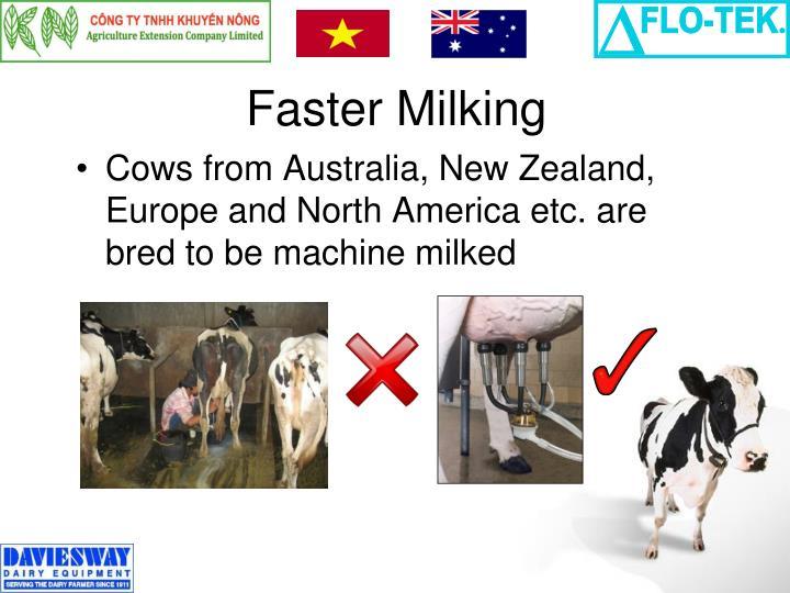 Faster Milking