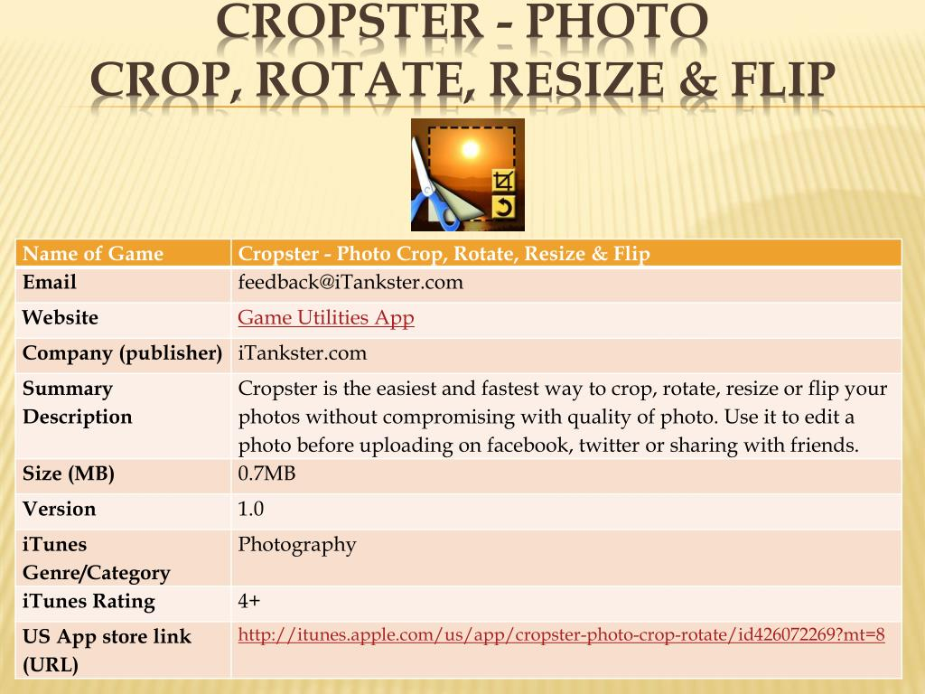 Cropster